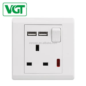 Fast Delivery OEM 13A Electric Plug Wall Switch Socket With USB