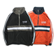Men's stripe windbreaker winter zip up sweatshirts without hoods
