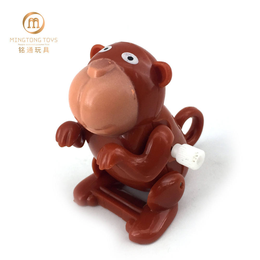 Mini Monkey Somersault Jumping Plastic Wind Up Toys Animal For Kids