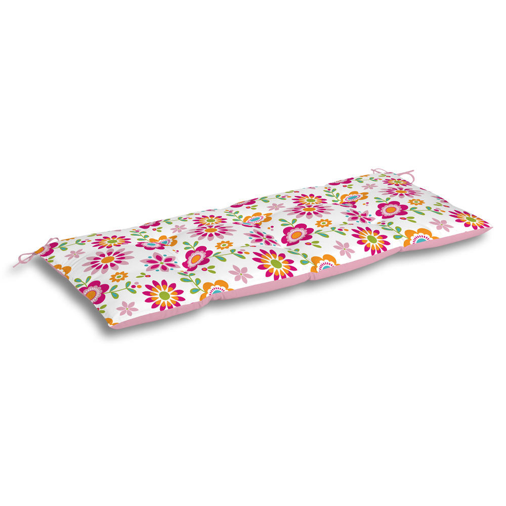 Home Textile Waterproof T/C 6535 Floral pattern Bench Cushion New Ties back Garden Chair Seat Pads