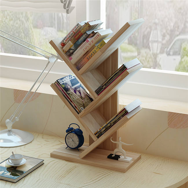 different color mini wooden Book shelf organizer for kids