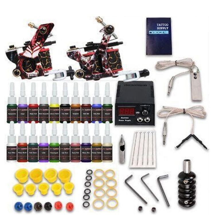 Professionele tattoo starter machine kit compleet populaire coil tattoo machine set