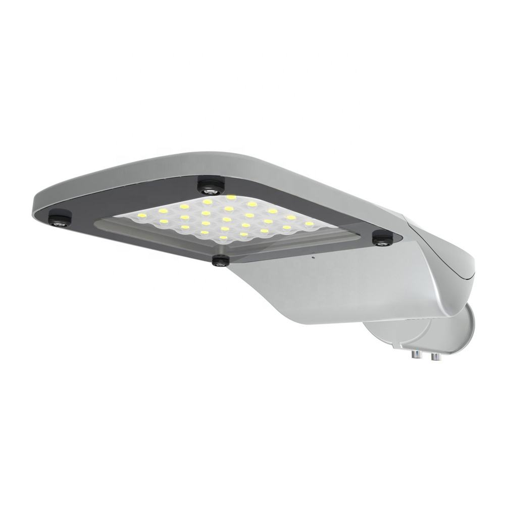160lm/W LED Street Lights100W Peta Light Fitting dengan Fotosel Sensor Outdoor Area Parkir Pencahayaan