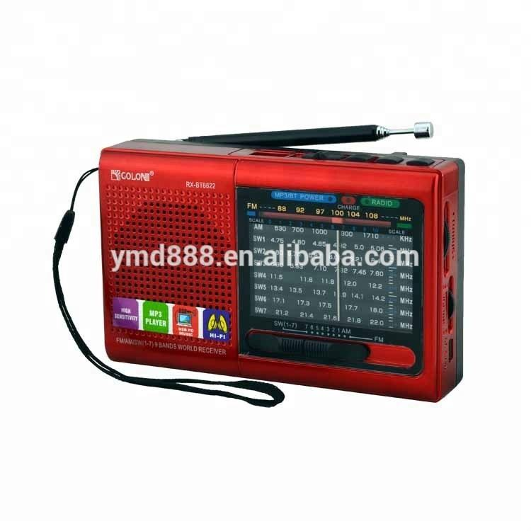 Factory hot sell new design portable mini speaker with fm am sw 9 band radio