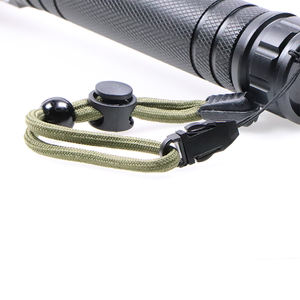High power Led Torch Police Patrol Strong Multifunction self-defense Led Flashlight with compass