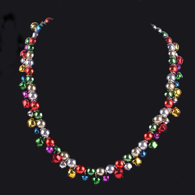 Collier Cloche Court Noël Coloré Colliers De <span class=keywords><strong>Perles</strong></span> avec des Cloches