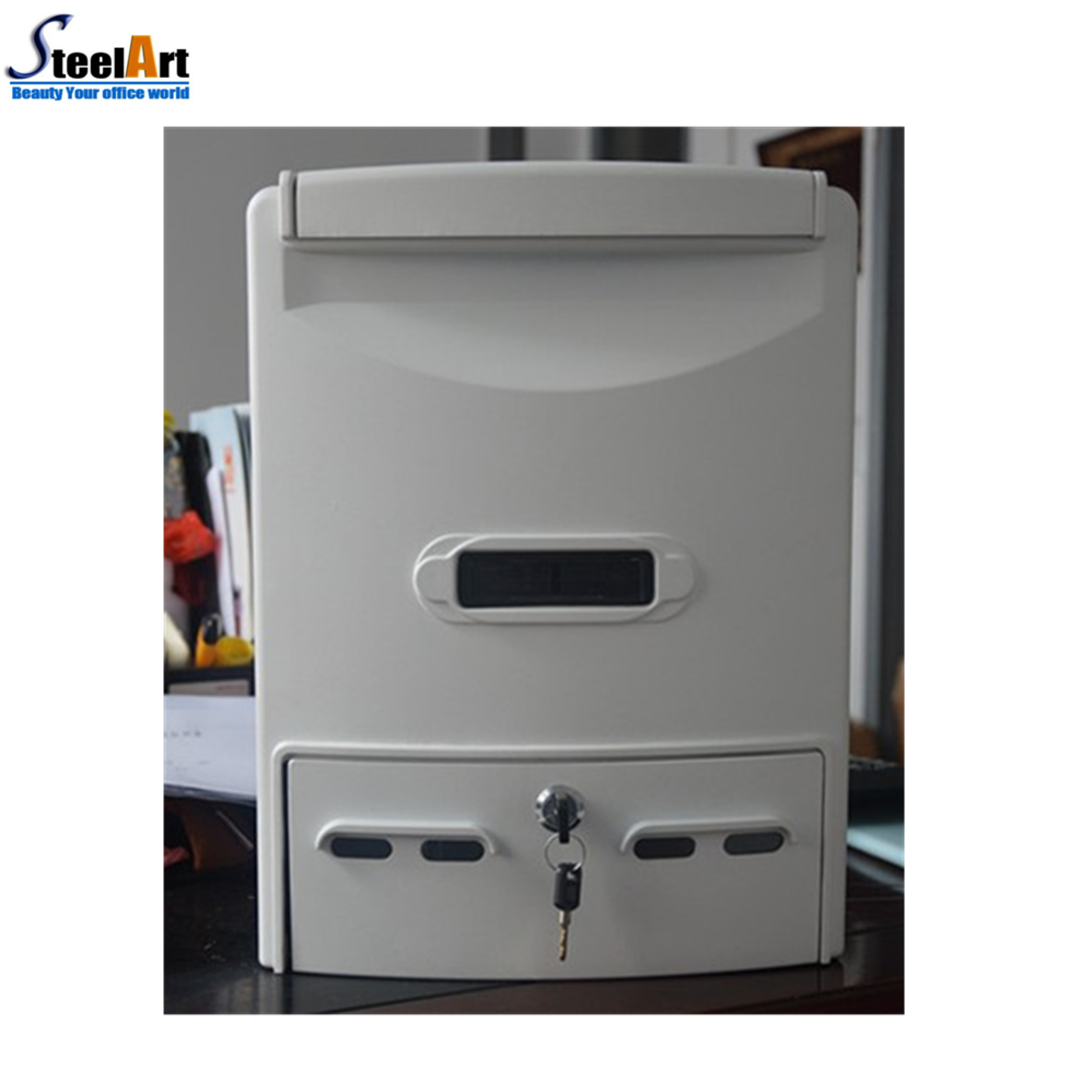 White color Wall mounted outdoor Casting Aluminium mailbox