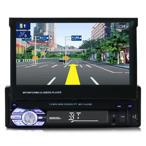 1Din Auto Stereo Touch screen Radio BT GPS Navigation System Multimedia