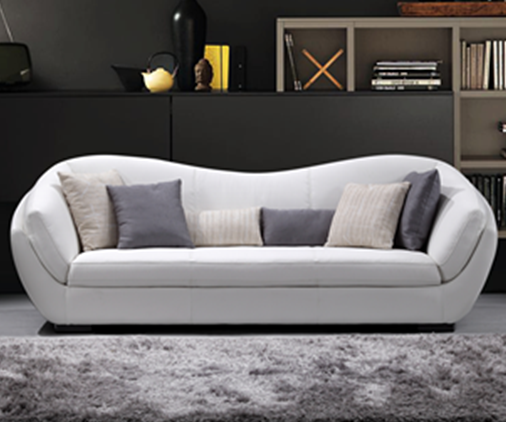 Living room furniture modern superb l shaped couch sectional black and white genuine leather sofa set