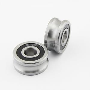 LFR50//8NPP 8mm ID x 6mm U Groove Roller Track Bearings Guide