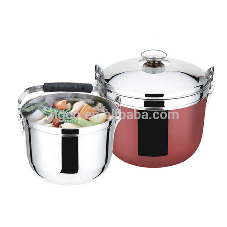 Chinese Eco-Friendly New Innovative Stainless Steel Cooking Pot Thermal Cooker Flame Free Cooking Pot LIDL Amazon