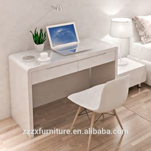 Lacquering finishing wood desk high glossy white computer desk office furniture desk