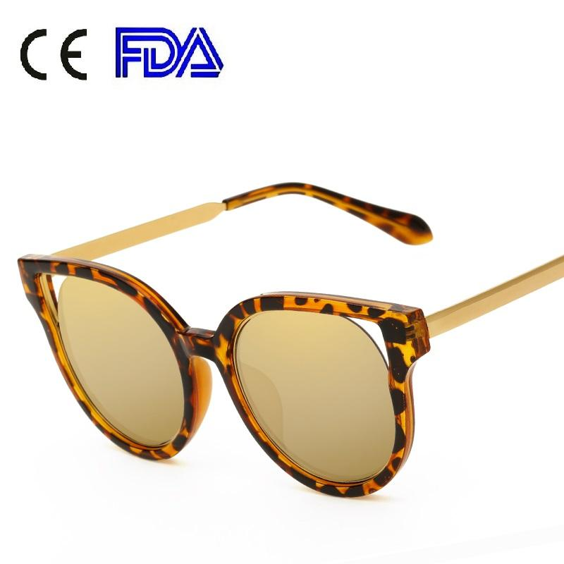 Superhot premium coach custom round Sunglasses 2017 Women Fashion PC Frame Lady Cat Eye Female Sun glasses UV400 164401