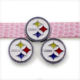 (SL239-2 Football Steelers)Enamel DIY 8mm slider charms for bracelet, pet collar