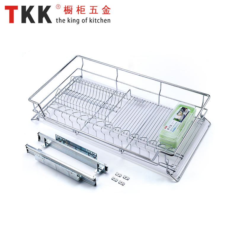 TKK China factory wire basket kitchen cabinet drawer basket soft stop pull out basket
