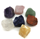 Wholesale Semi-precious Rough stone 7 crystal healing stone chakra stone set