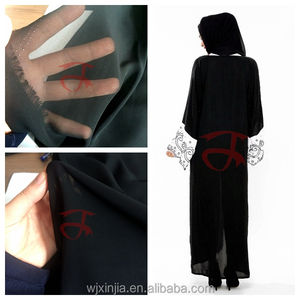 Black Abaya chiffon satin polyester fabric