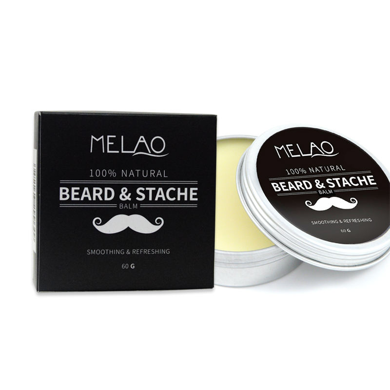 Melao Beard Balm Leave-in Conditioner - All Natural -Vegan Friendly Organic Oils and Butters 2oz tins for beard balm