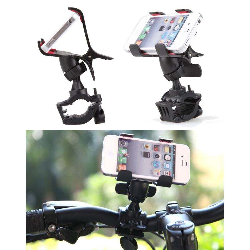 New 360 Degree Rotating Bike Phone Holder Handlebar Clip Stand Bracket for iPhone Samsung Cellphone GPS MP4 MP5