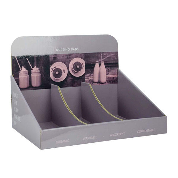 China supplier Shampoo counter display recycle Cardboard shelf Retail Hair Salon promotion