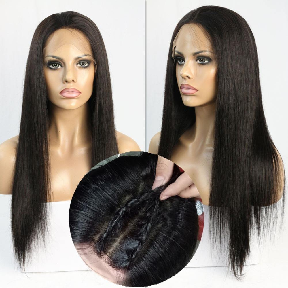 Top quality chinese remy hair 5*5 silk base wig silky straight wave full lace silk base wigs