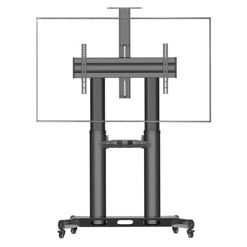 Mobile TV Stand with Wheels Rolling TV Cart up to 56.8kg for 50 to 80 Inch LCD LED Flat Panel TVs