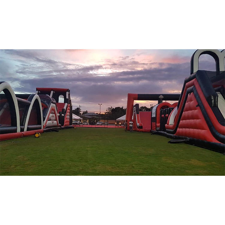 Customized Commercial 5k inflatable obstacle course for outdoor event