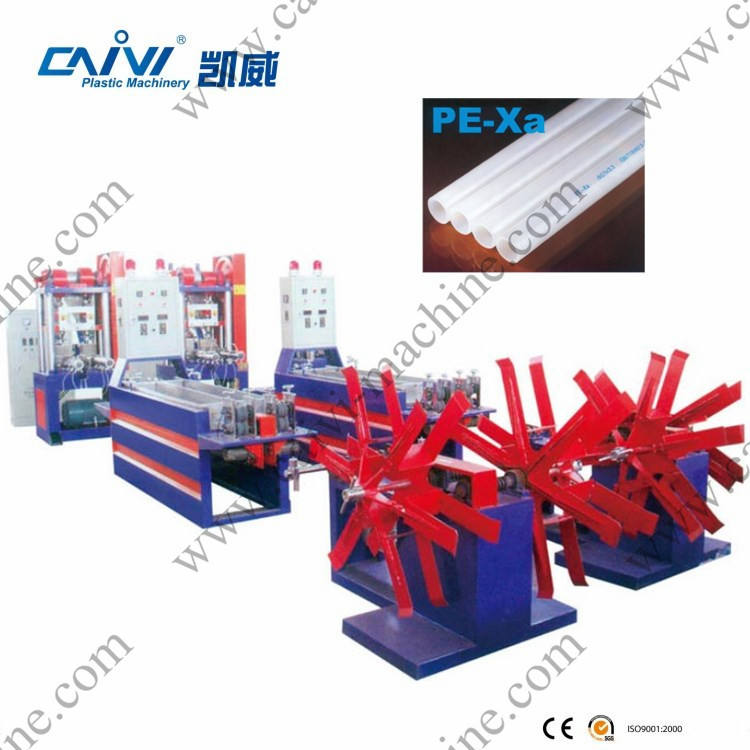 PEX A floor heating pipe extruder/flexible heat resistant clear plastic tube pipe extruding machine