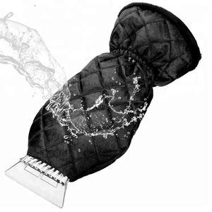 PromotionGift Car ice scraper with mitten black