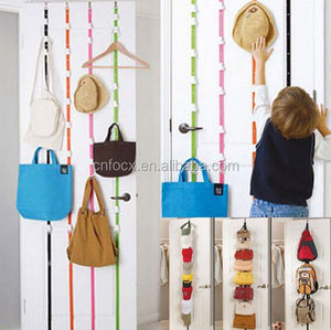 Over door 8pcs bag hooks / HandBag Rack Organizer / Door Straps Hanger