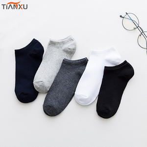 Wholesale high quality solid color womens mens Cotton socks ankle socks Low Cut Socks