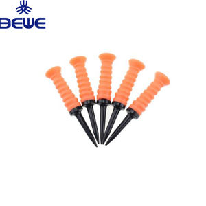 OEM made 50 pieces acceptable ready to ship red blue yellow orange 4 colors rubber top soft unique golf tees