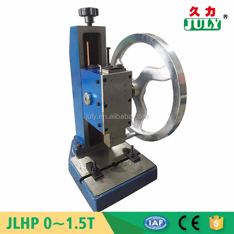 Factory price JULY new small product manual fabric punching machine