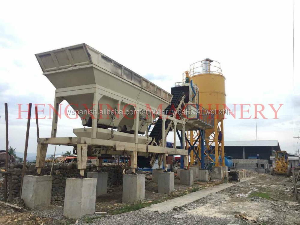 yhzs35 portátil de hormigón planta de hormigón