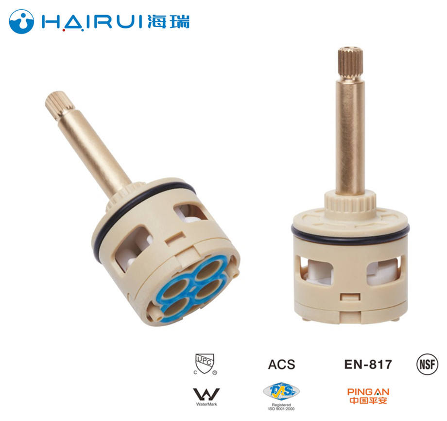 35mm 4 way diverter cartridge faucet ceramic cartridge use for faucet tap and mixer HR35D-F01 factory supply Korea PPO using