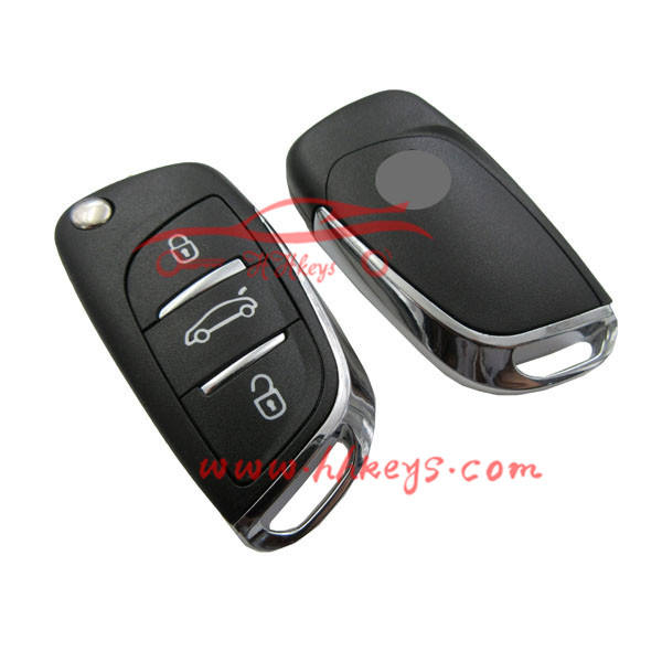 Citroen car flip folding 407 key blade 3 button remote blank car key with logo
