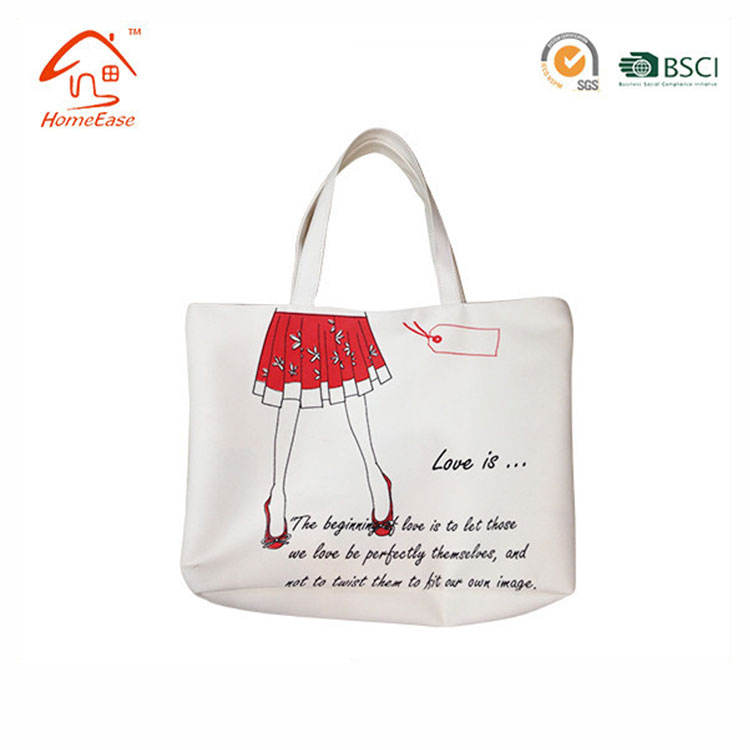 Plastica Pvc Rivestito di Cotone Shopping Bag