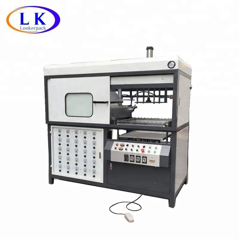 Semi-automatic single station blister vacuum forming machine