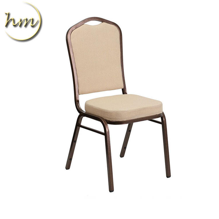 Ivory white stackable steel chair for wedding