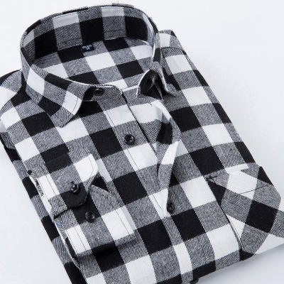 Oemtailor Fashion Casual Mens Plaid Flannel Shirt for Wholesale