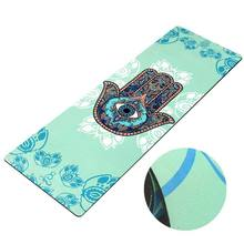 NICEGOOD sublimation custom label digital printed natural rubber zenergy fitness eco private label yoga mat