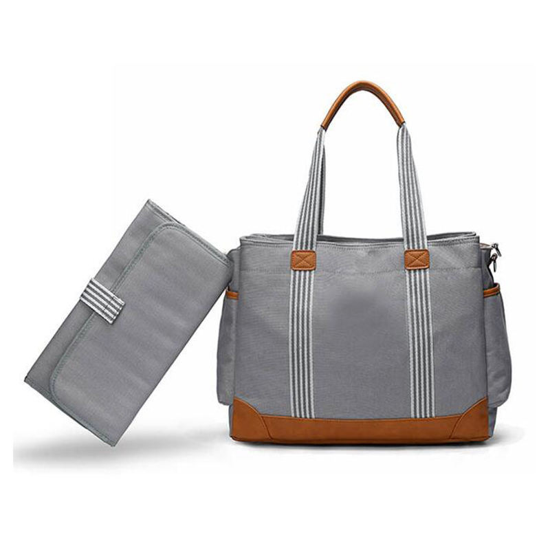 Unisex Canvas Diaper Shoulder Bag with Adjustable Strap