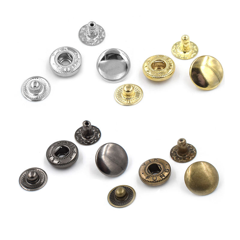 Factory Direct Custom Zwart Zilver Goud Messing Snap Druk Stud Metalen <span class=keywords><strong>Drukknoop</strong></span>