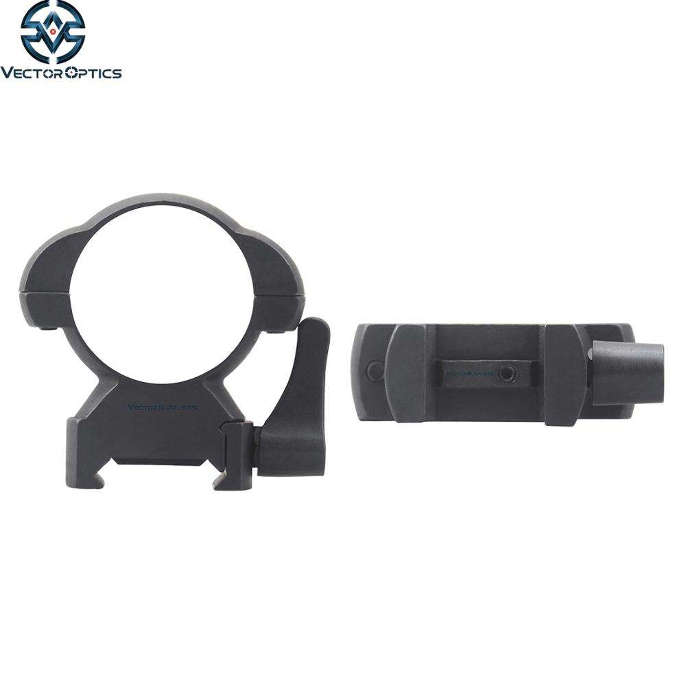 Vector Optics High Profile Quick Detach QD 30mm Steel Scope Mount Rings with Lever 27MM 1.1 Inch Height