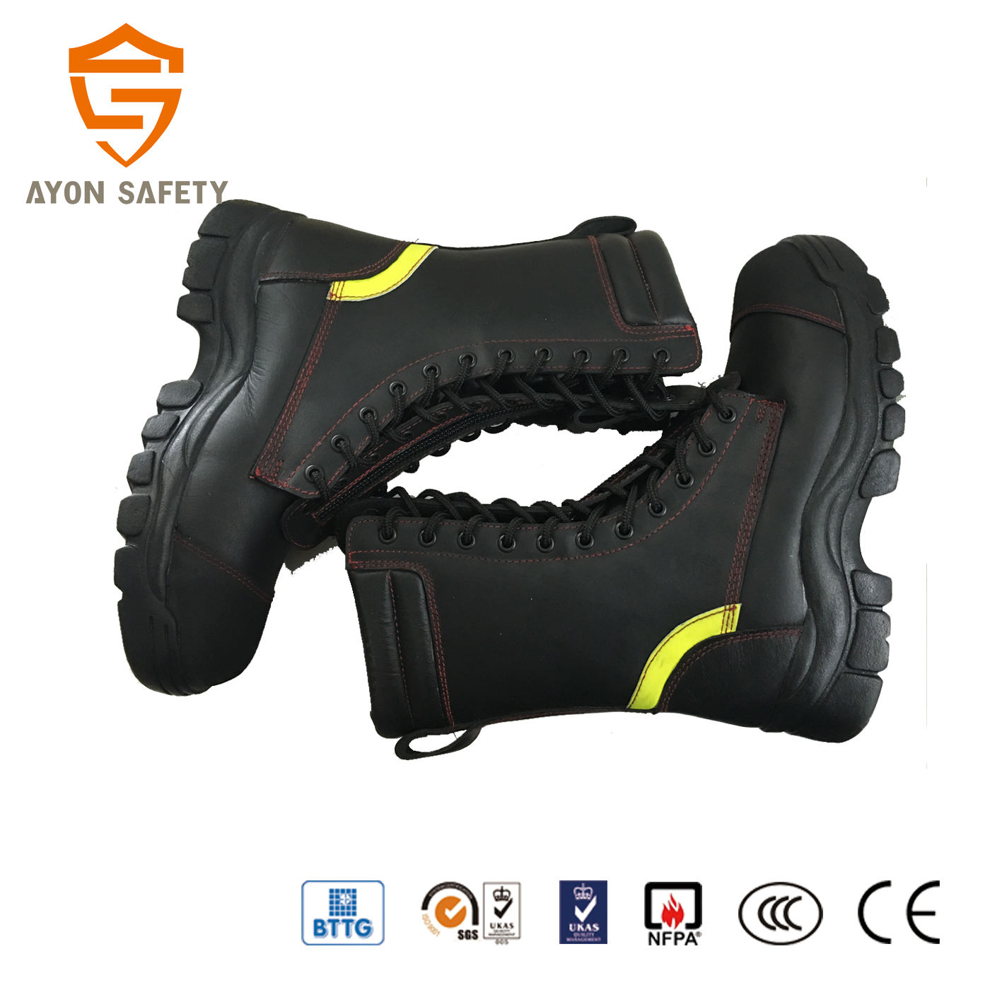Nouveau design cuir <span class=keywords><strong>Pompier</strong></span> bottes-Ayonsafety