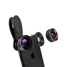 Universal 3 In1 Fisheye Macro Wide Angle clip Mobile Phone Camera Lens