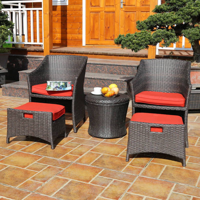 Luxury outdoor garden leisure furniture patio outdoor rattan chair cushion chair cushion wicker chair leisure