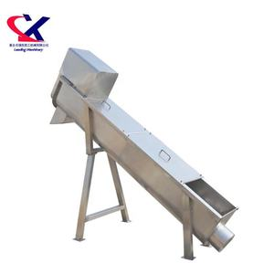 Screw Elevator to transport materials to next machines, pineapple, grapes, lychee , 5T Screw Auger