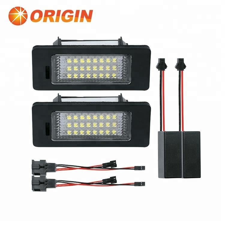 Easy Install for AUDI Q5 License Number Plate Light LED Lamp Replace OEM Bulb & Holder