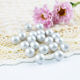 Top quality Natural silver white round shape rainbow shade ABS loose pearls plastic beads semi-hole 4mm 6mm 8mm etc